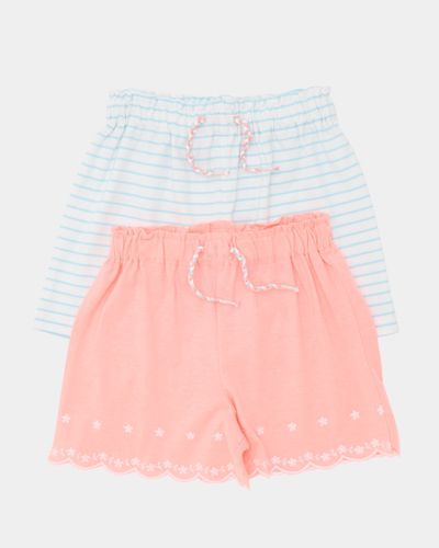 Embroidered Shorts - Pack Of 2 (6 months-4 years)
