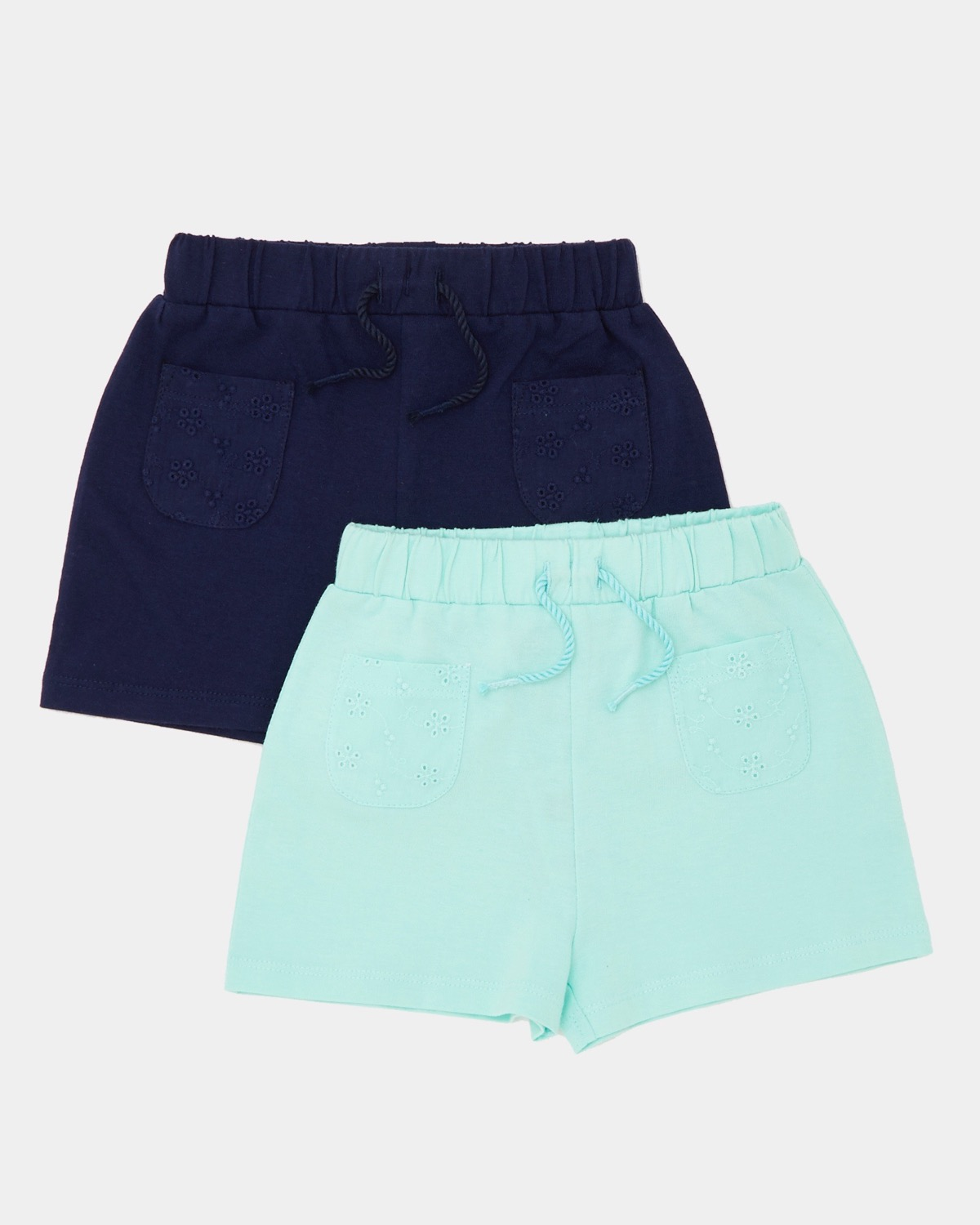 Broderie Pocket Short - Pack Of 2 (6 months-4 years)