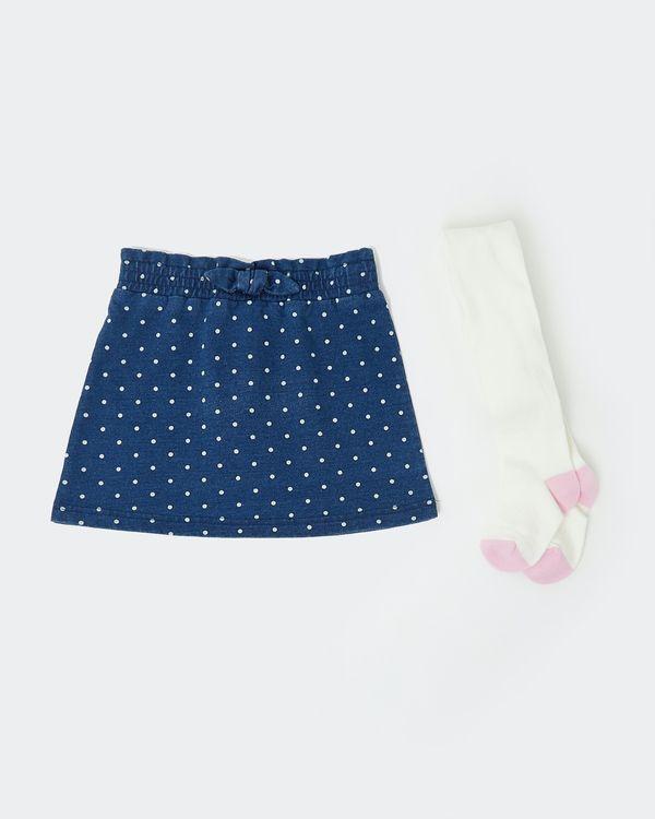 Denim Spot Skirt Set (6 months - 4 years)