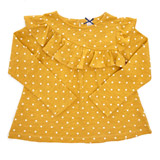 gold Toddler Spot Print Top