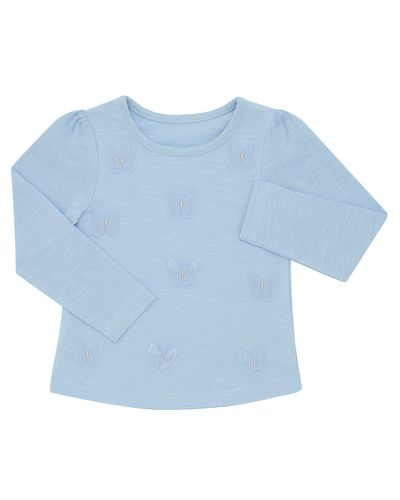 Butterfly Slub Top (6 months-4 years)