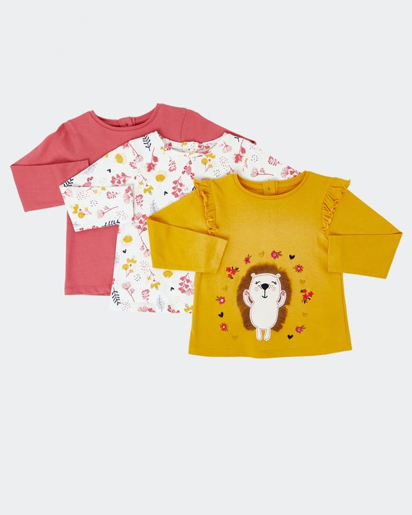 Long-Sleeved Tops - Pack Of 3 (0 months - 4 years)