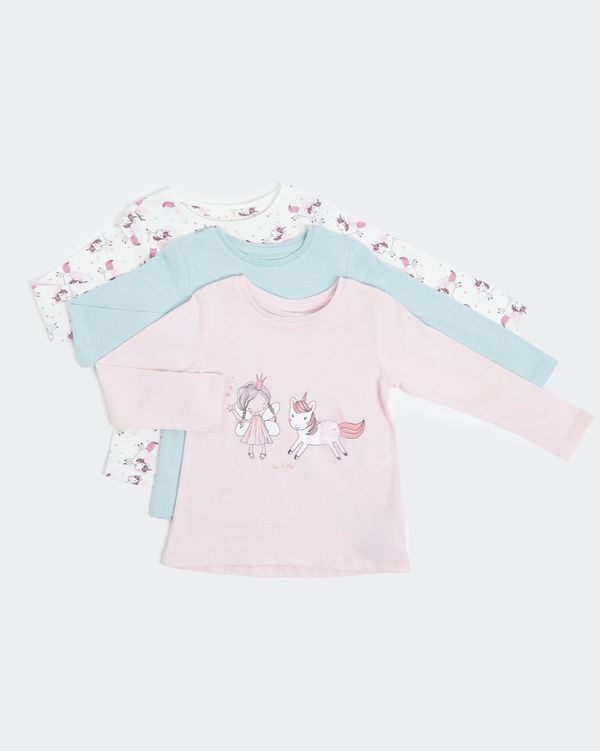 Long-Sleeved Top - Pack of 3 (0 months - 4 years)