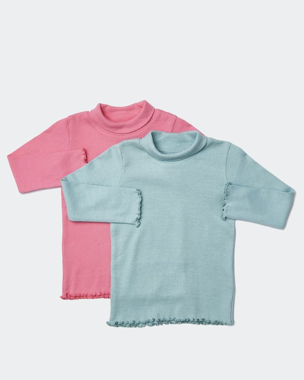 Roll Neck Tops - Pack Of 2 (6 months-4 years)