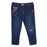 denim Toddler Denim Jeans With Print Detail