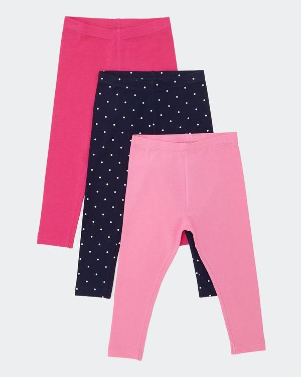 Girls Leggings - Pack Of 3 (6 months-4 years)