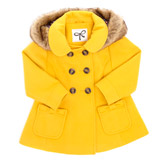gold Toddler Coat With Hood