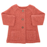 orange Toddler Knit Jacket