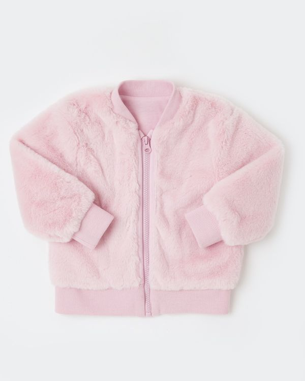 Faux Fur Bomber Jacket (6 months - 4 years)