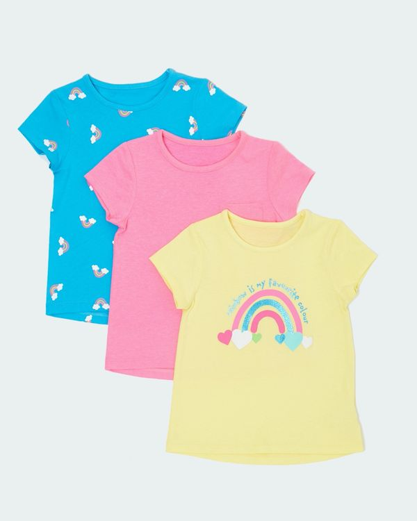 BNWT GIRLS CHAD VALLEY 3PACK T.SHIRTS SIZE 18-24 MONTHS