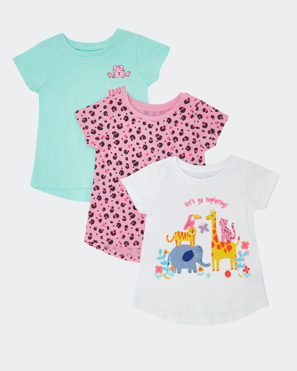 Girls T-Shirt - Pack Of 3 (6 months-4 years)