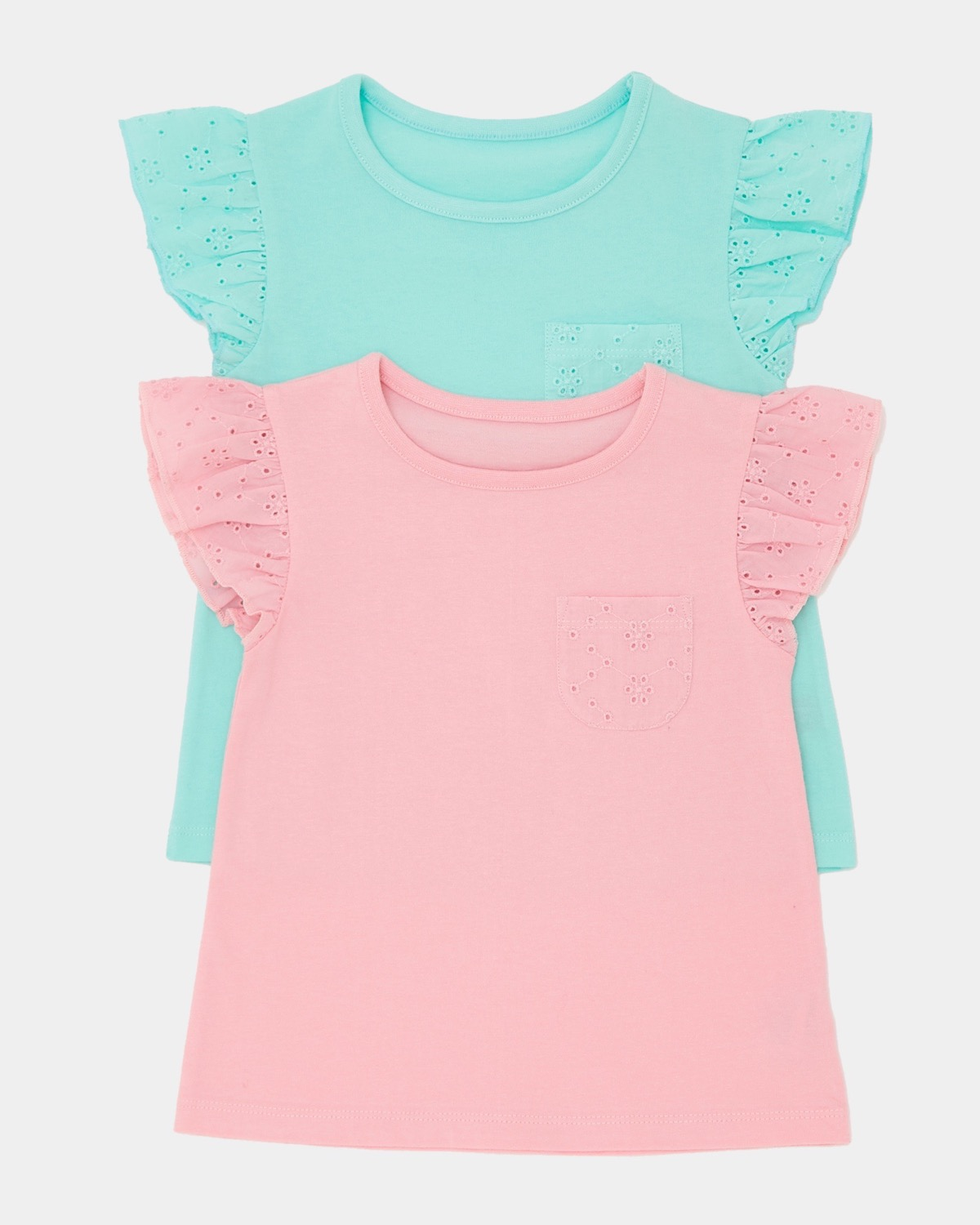 Lace Pocket T-Shirt - Pack Of 2 (6 months-4 years)