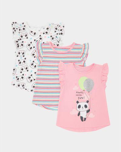 Panda T-Shirts - Pack Of 3 (6 months-4 years) thumbnail
