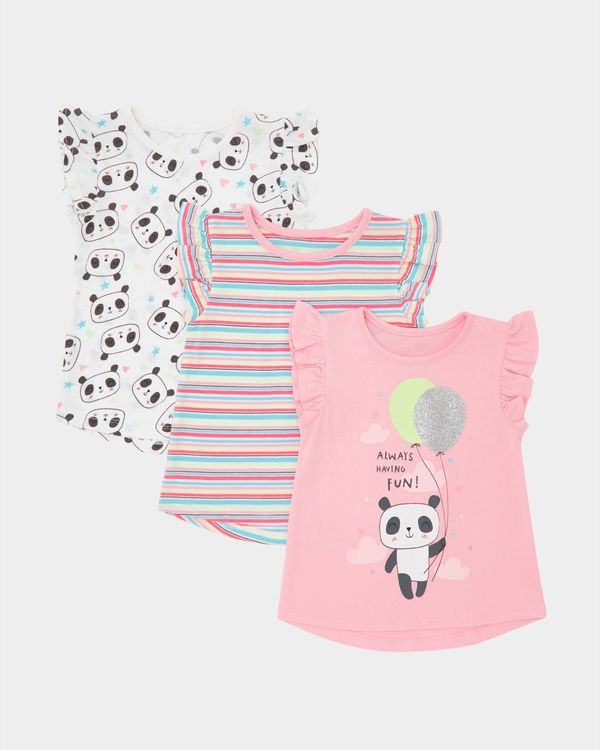 Panda T-Shirts - Pack Of 3 (6 months-4 years)