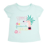 aqua Toddler Print T-Shirt