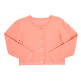 coral Toddler Solid Cardigan With Roll Neck