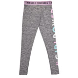 grey Girls Slogan Print Leggings