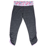 grey-marl Older Girls Space Dye Leggings