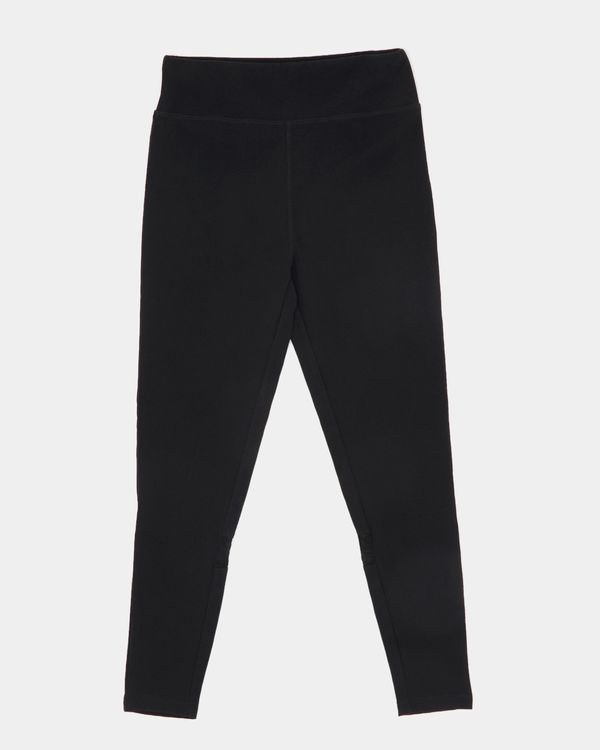 Girls Black Sporty Leggings (4-14 years)