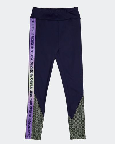Girls Slogan Leggings (4-14 years) thumbnail