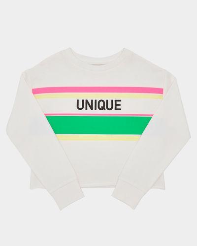 Girls Neon Stripe Sweatshirt (4-14 years)