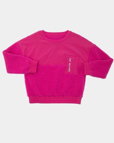 Girls Woven Mix Sweatshirt (4-14 years)