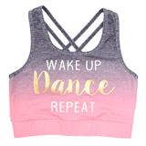 charcoal Older Girls Dance Crop Top