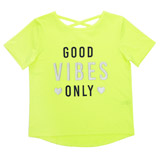 lime Older Girls Good Vibes Top