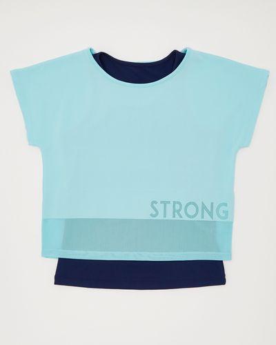 Girls Short-Sleeved Mesh Two-Fer (4-14 years)