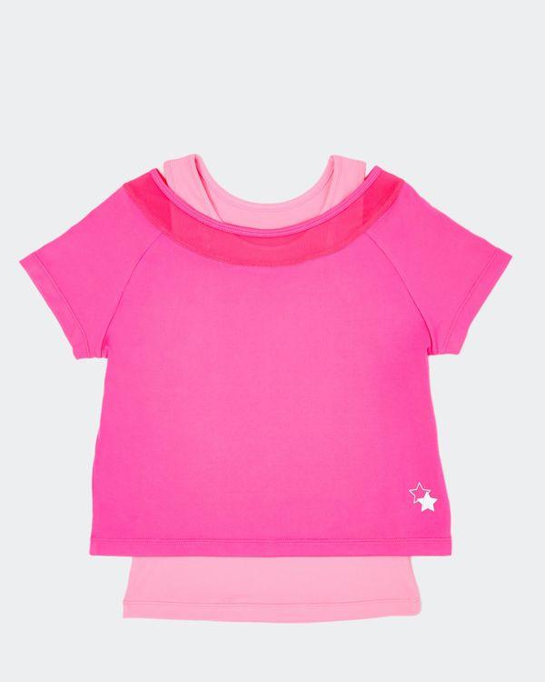 Girls Twofer Mesh T-Shirt (4-14 years)