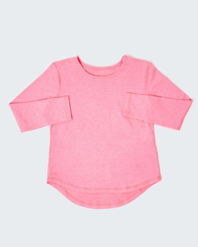 Girls Long-Sleeved Sporty Top (5-14 Years) thumbnail