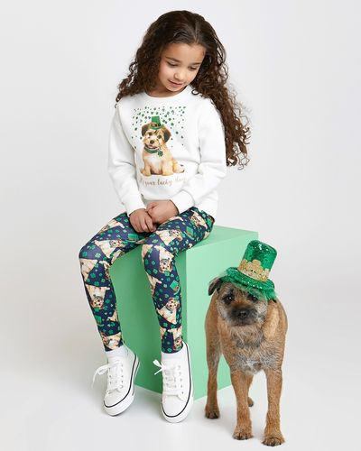 St Patrick's Day Dog Sweatshirt (4-14 years)
