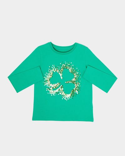 Girls Shamrock Long-Sleeved Top (3-10 years) thumbnail