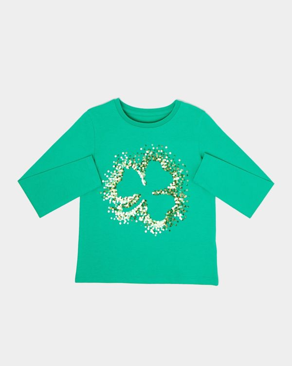 Girls Shamrock Long-Sleeved Top (3-10 years)