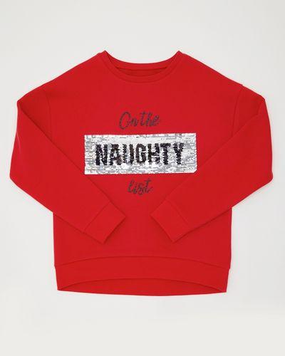 Sequin Slogan Sweatshirt (8-14 years)