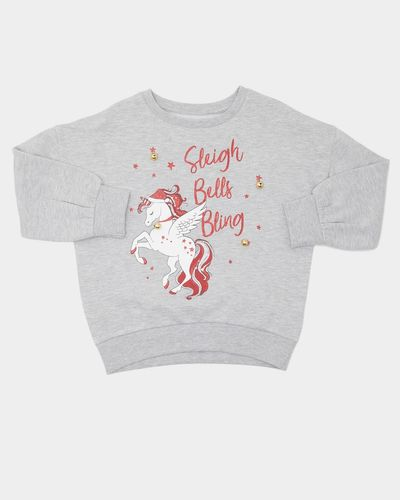 Younger Girls Christmas Unicorn Sweatshirt (2-8 years)