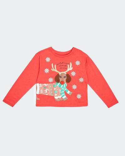 Young Girls Christmas Long-Sleeved Top (3-8 years)