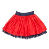 red Younger Girls Cotton Sateen Skirt
