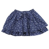navy Younger Girls Printed Skirt