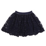 navy Younger Girls Embroidered Skirt