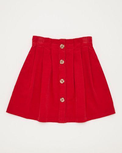 Girls Pleated Cord Skirt (4-10 years)