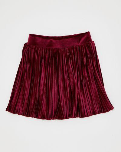 Girls Velvet Pleated Skirt (4-10 years)