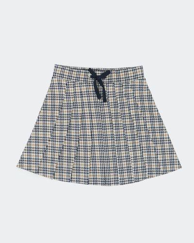 Girls Ponte Check Skirt (2-8 years)