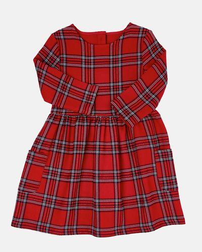 Girls Check Ponte Dress (4-10 years)