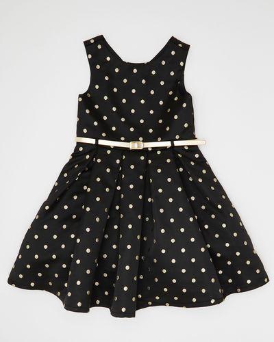 Girls Spot Brocade Dress (4-10 years)