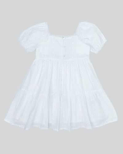 Girls Broderie Dress (2-8 years)