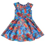 red Younger Girls Digital Printed Dress