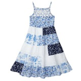 white Younger Girls Patchwork Dress