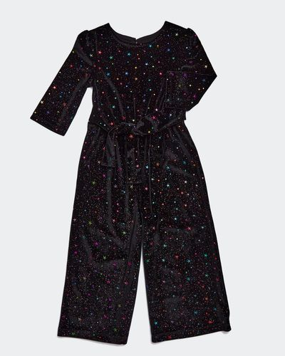 Girls Sparkle Velour Jumpsuit (2-8 years) thumbnail
