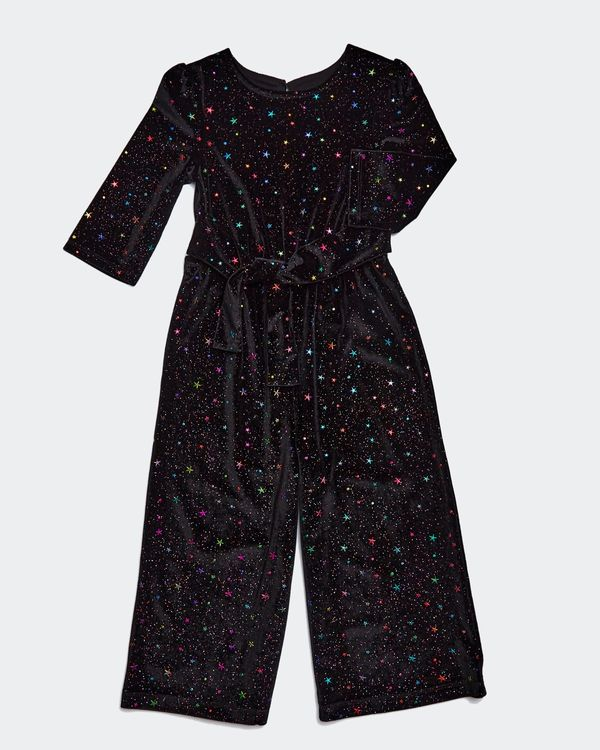 Girls Sparkle Velour Jumpsuit (2-8 years)